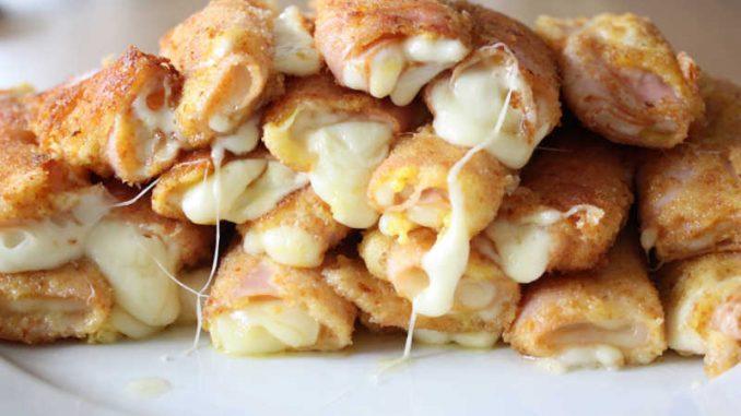 Schinken Käse Röllchen